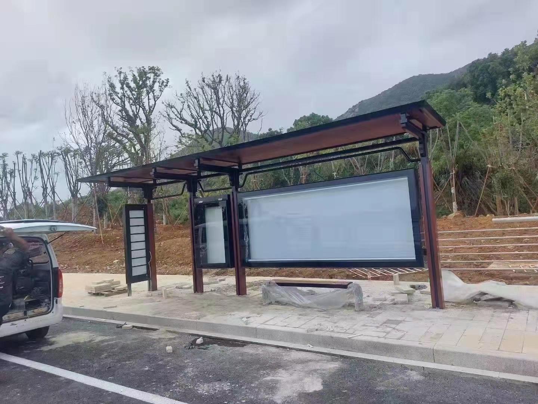 【2021年10月8日】浙江公交候车亭项目实景安装现场